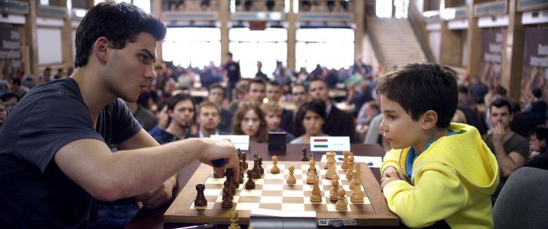 Die Partie der Schlussrunde: Max mit Weiß gegen Cal